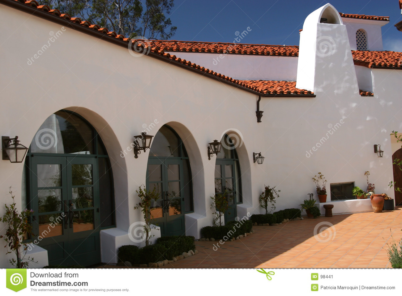 Classic Spanish Architecture Stock Image Image Of Architecture Ojai 98441