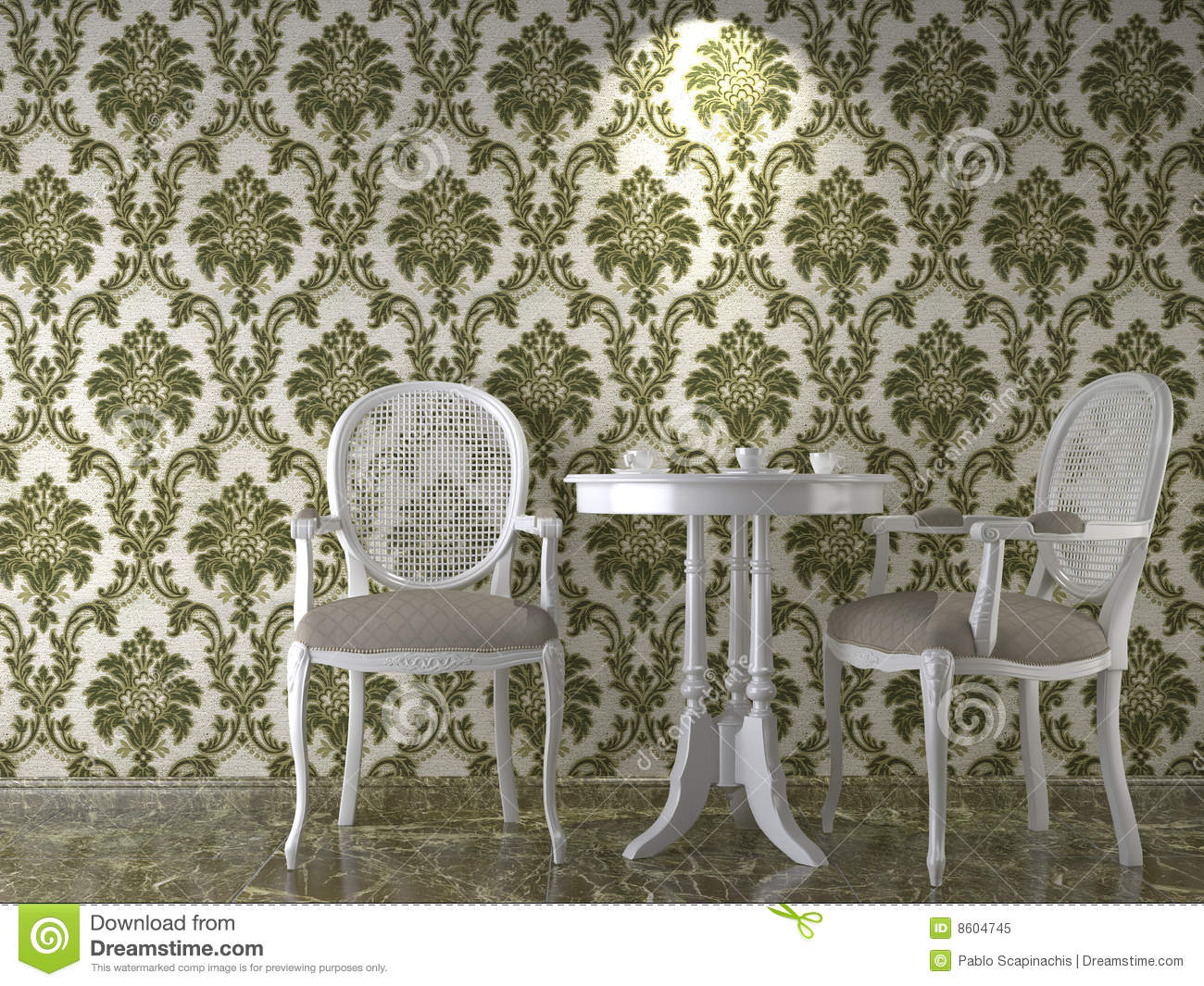 Interieur Wallpaper Classical Wallpaper Interior Stock Illustration Illustration Of