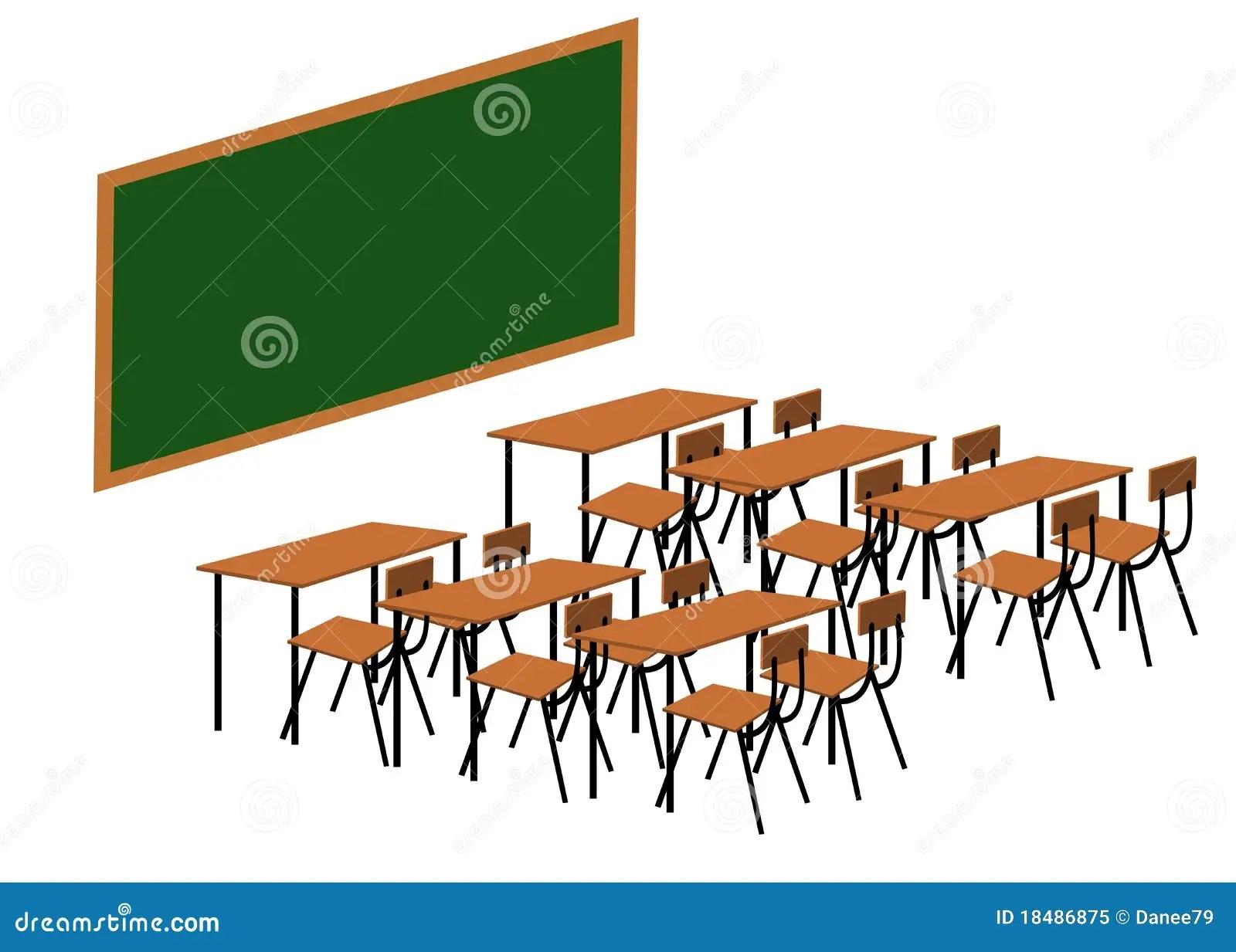 Classroom Stock Illustration Illustration Of Back