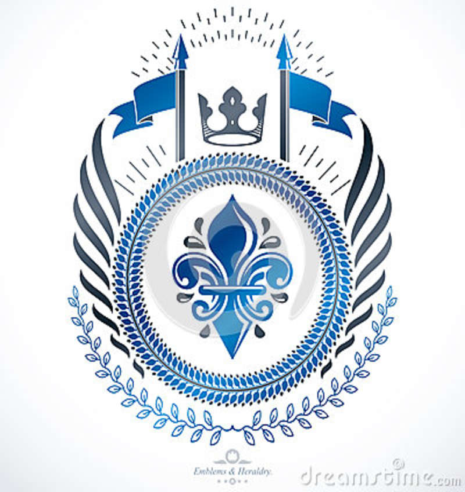 Classy Emblem, Vector Heraldic Coat Of Arms Stock Vector