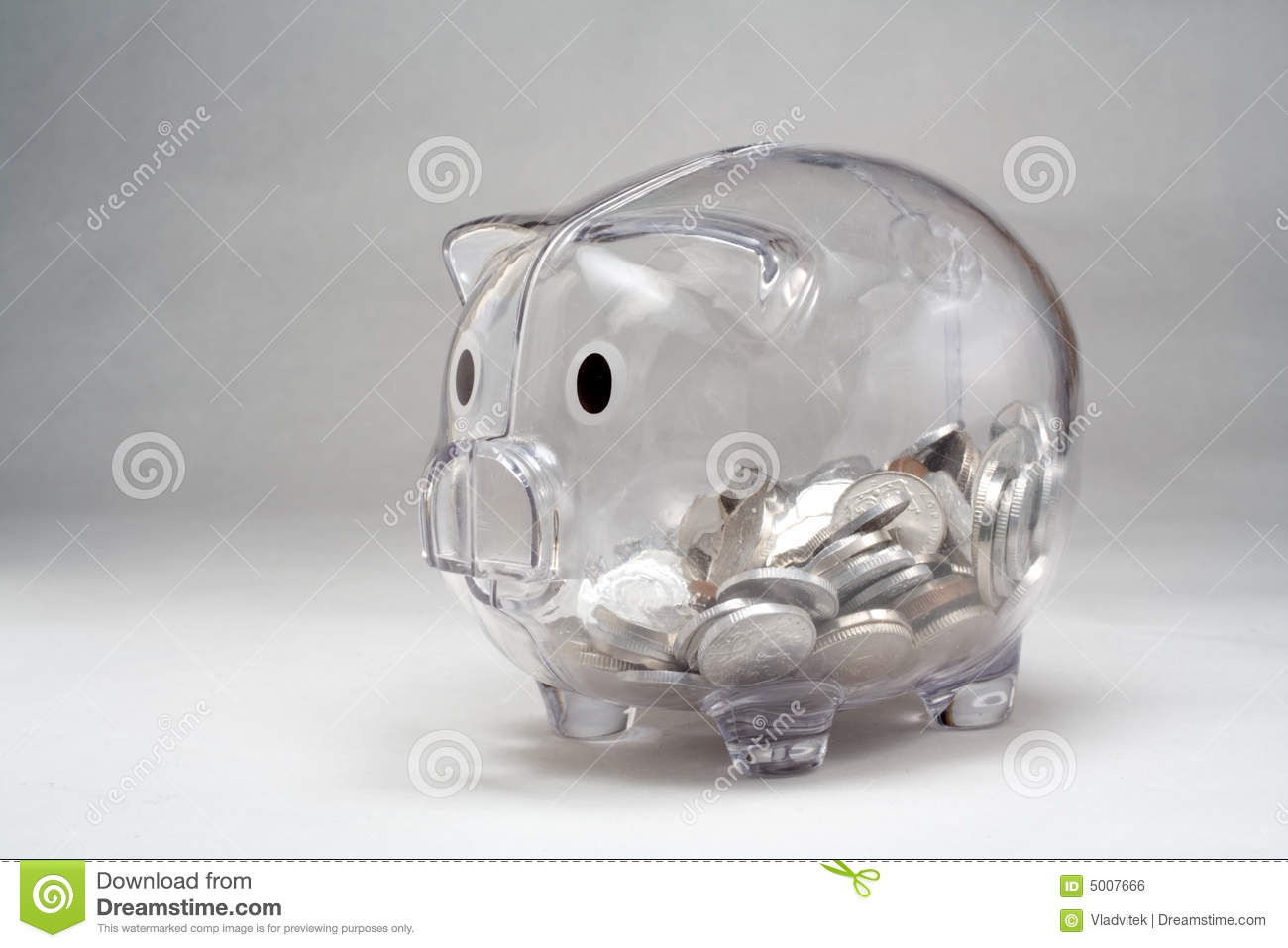 Piggy Glass Clear Glass Piggy Bank Royalty Free Stock Image Image