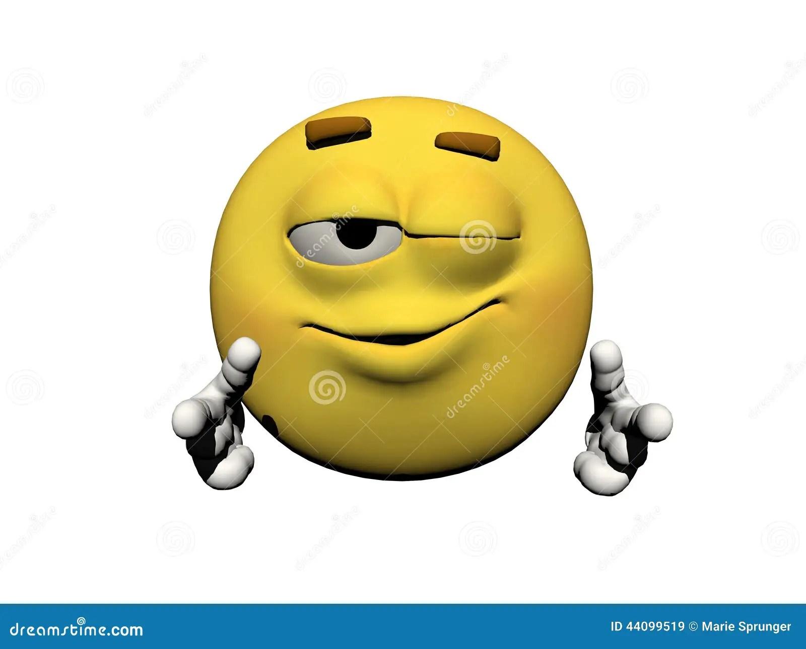 3d Emoticons Wallpapers Clin D Oeil D 233 Motic 244 Ne D Un Oeil Illustration Stock