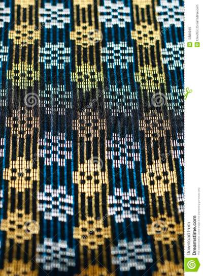 Close Up Songket Fabric Texture Stock Image - Image: 19588945