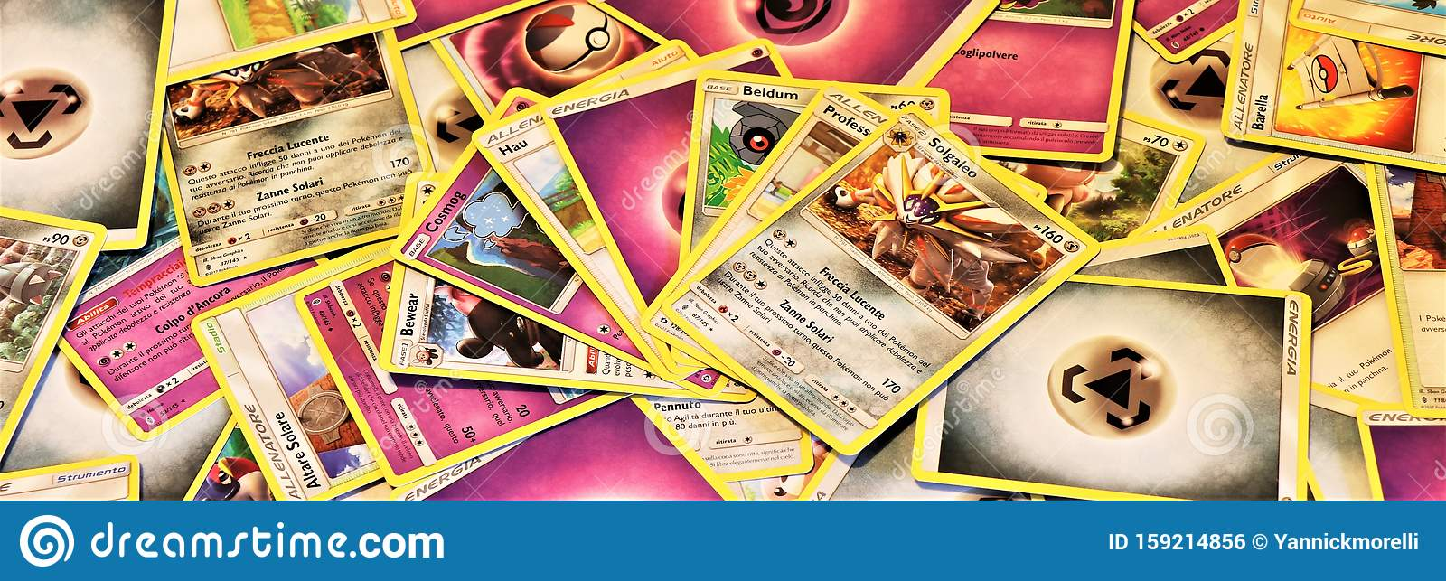 Close Up Of A Stack Of Pokemon Cards Editorial Photo Image Of Pikachu Pack 159214856