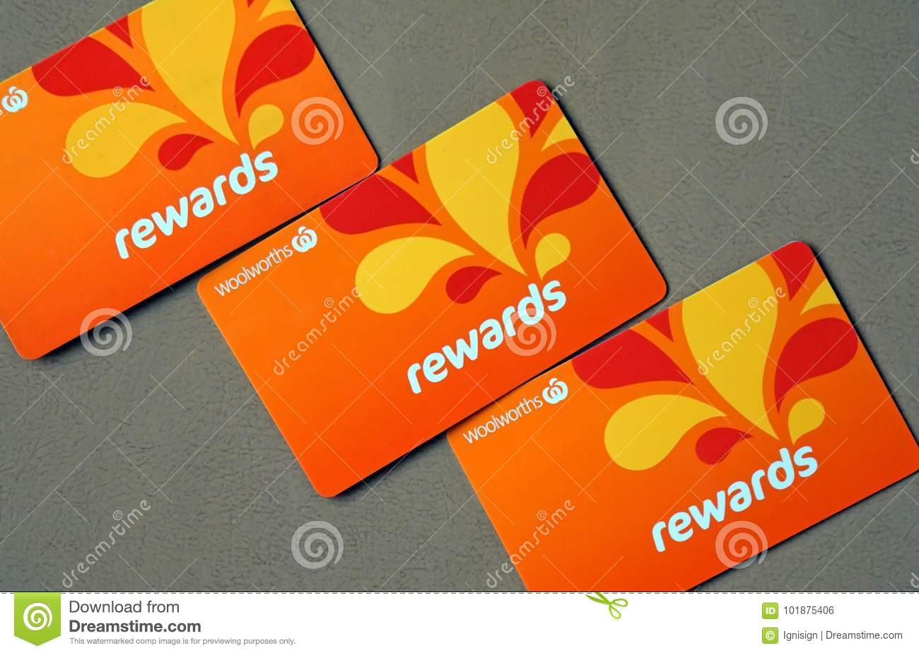Gift Card Woolworths Close Up Of Woolworths Rewards Loyalty Cards Woolworths