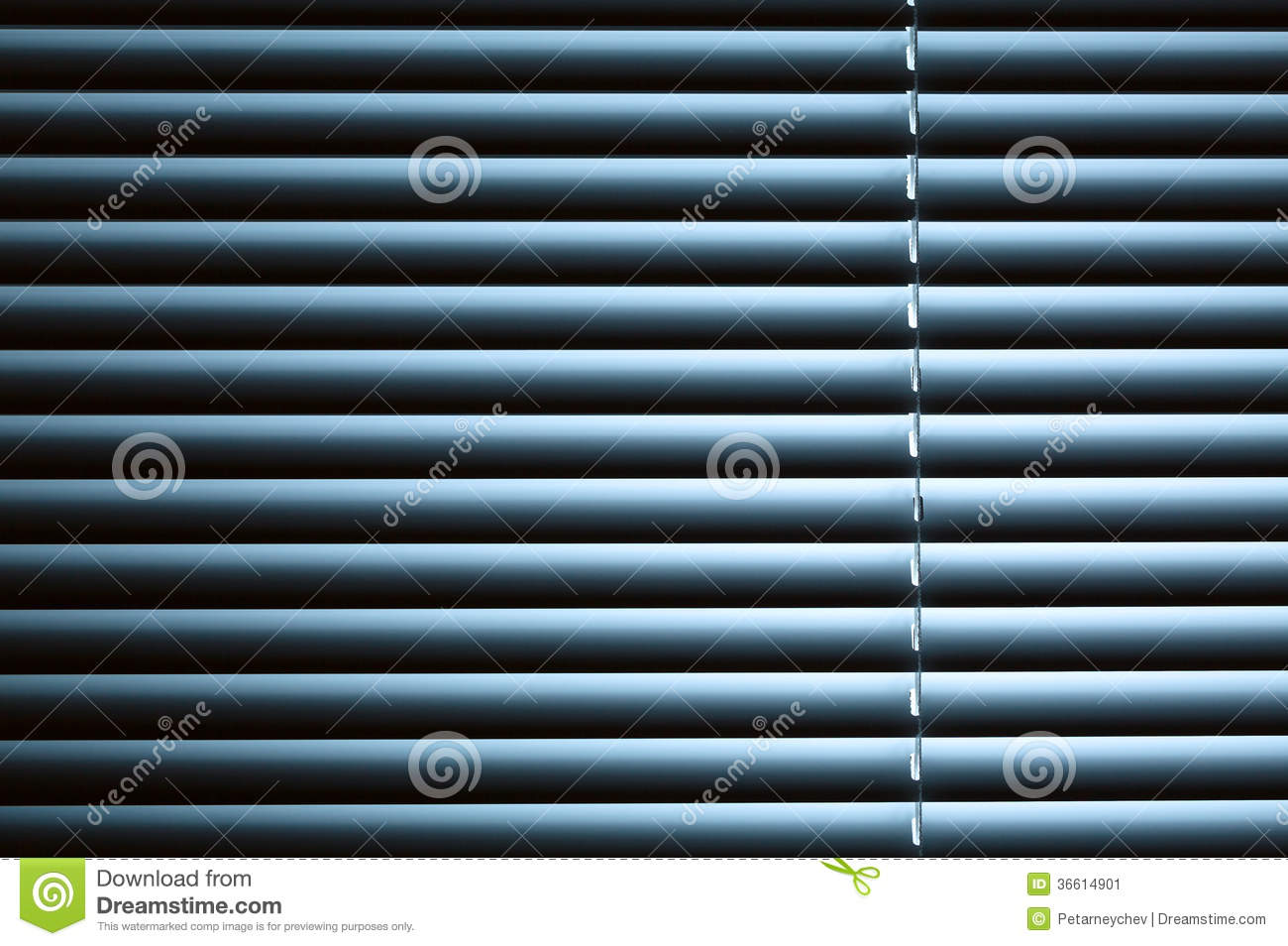 Blinds Spotlight Closed Venetian Blinds Under Night Light Stock Image Image Of