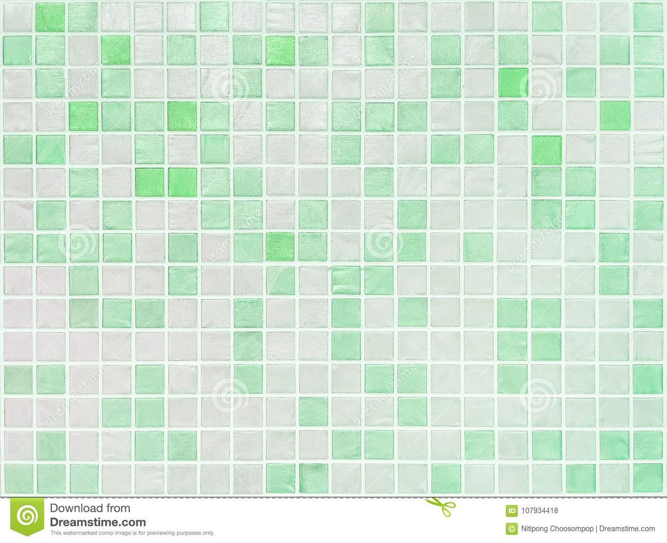 Closeup Surface Tiles Pattern At Green Tiles In Bathroom Wall Texture Background Stock Photo Image Of Interior Crystal 107934418