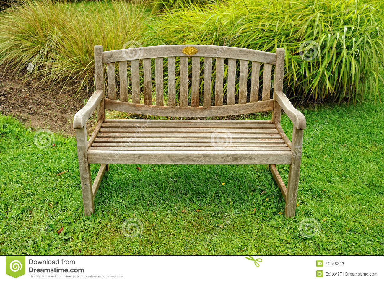Wooden Park Benches Front Closeup Wood Bench Stock Photos Image 21158223