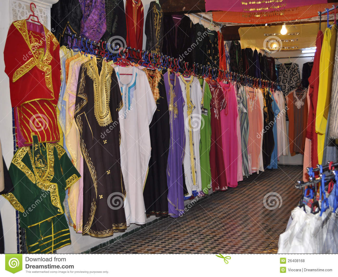 Marokko Online Shop Clothes Shop In Medina Of Fes Morocco Stock Photo Image