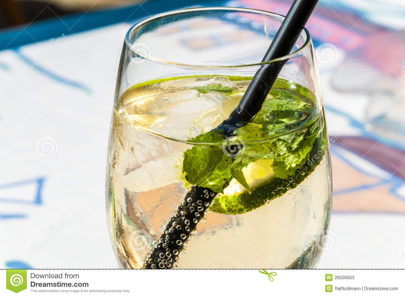 Mojito Glas Cocktail Glas Stock Image Image Of Drink Grillparty 26500653