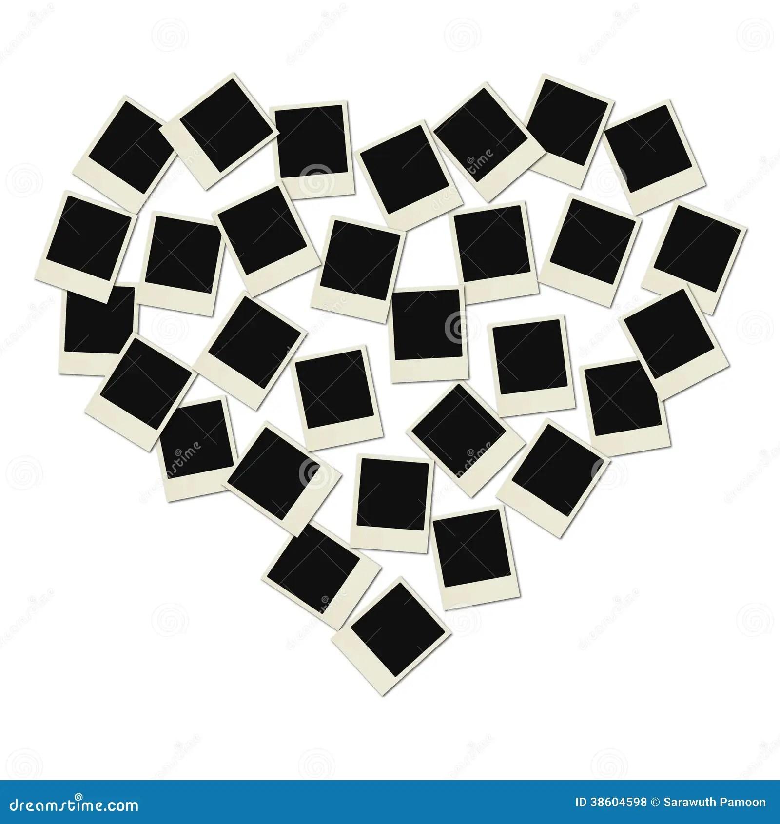coeur de polaroid d 39amour illustration stock illustration