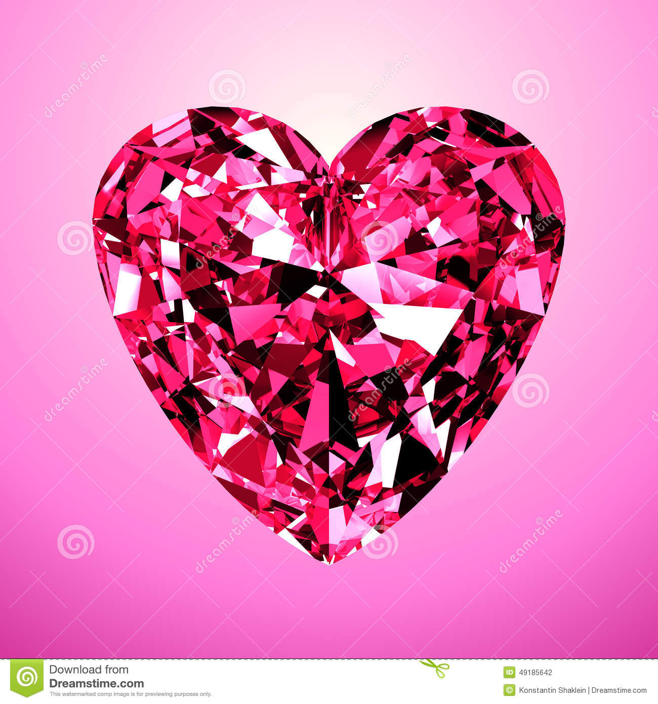 Diamant Rose Coeur Rose De Diamant Illustration Stock Image 49185642
