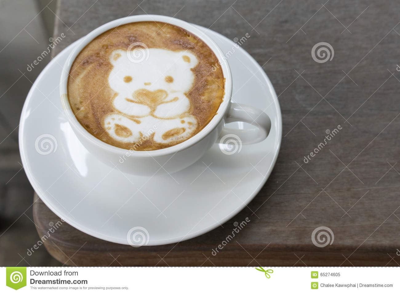Coffee Art Bear Coffee Bear For Valentine Stock Image Image Of Bear