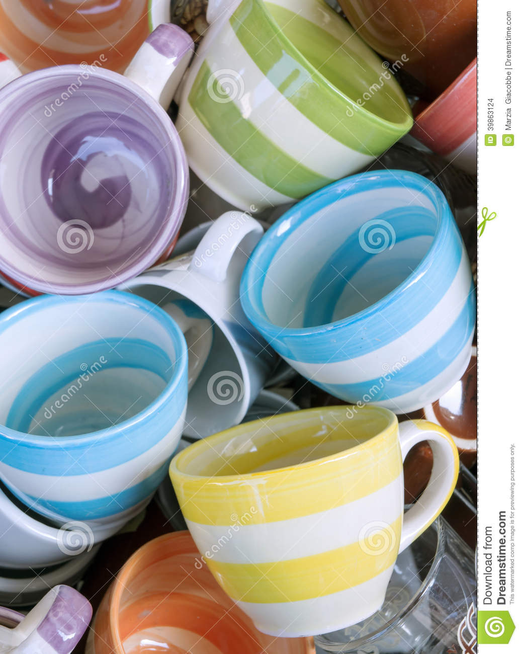 Tea Mugs For Sale Coffee Cups For Sale Stock Photo Image 39863124
