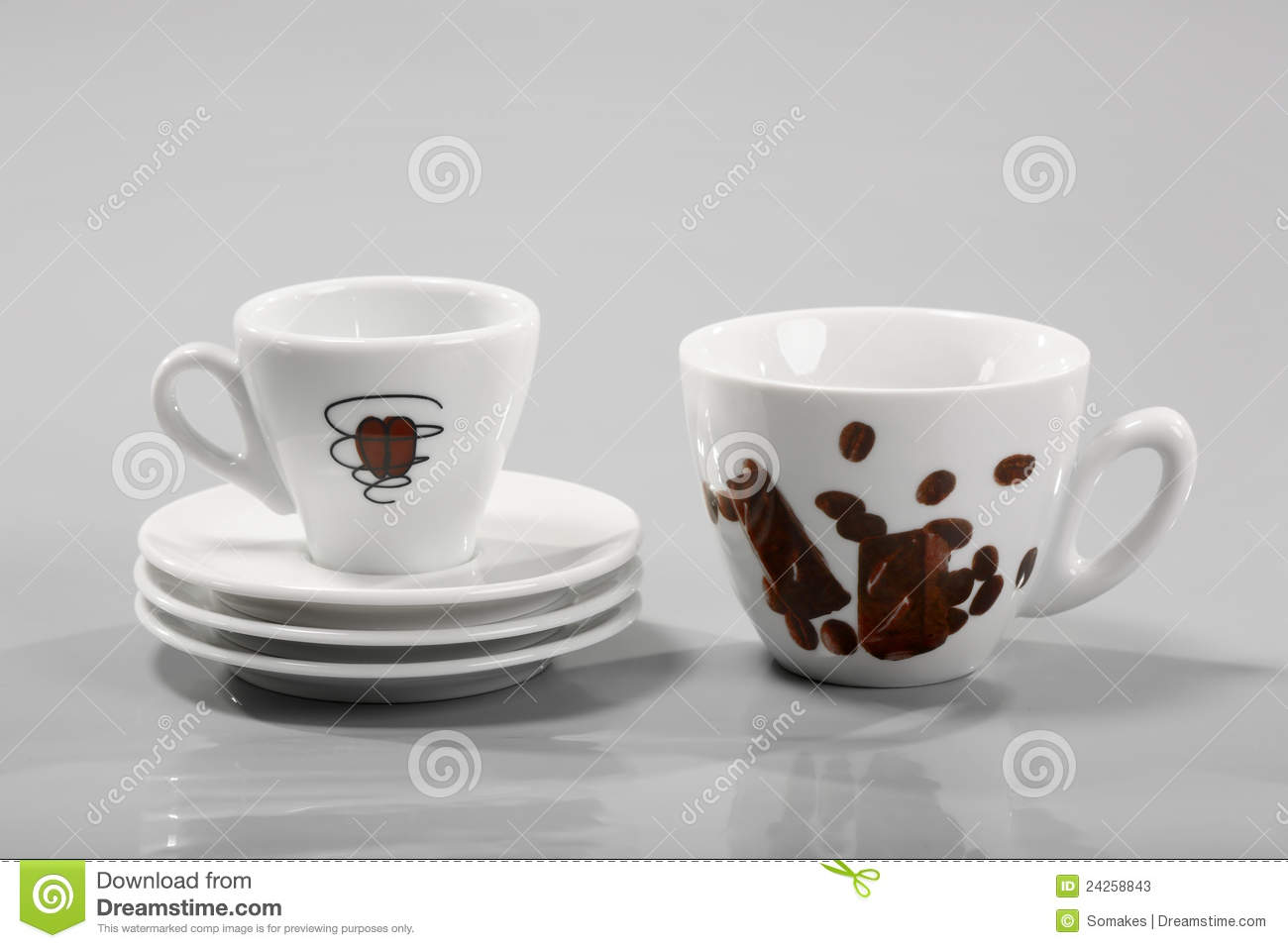 Small Coffee Cups And Saucers Coffee Cups And Saucers Stock Image Image Of View Details 24258843