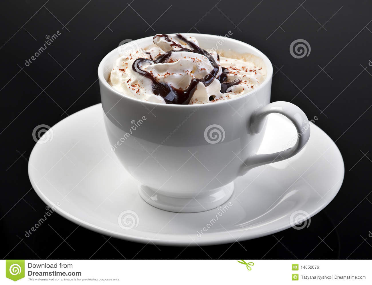 Coffee Art With Chocolate Syrup Coffee Latte Royalty Free Stock Image Image 14652076