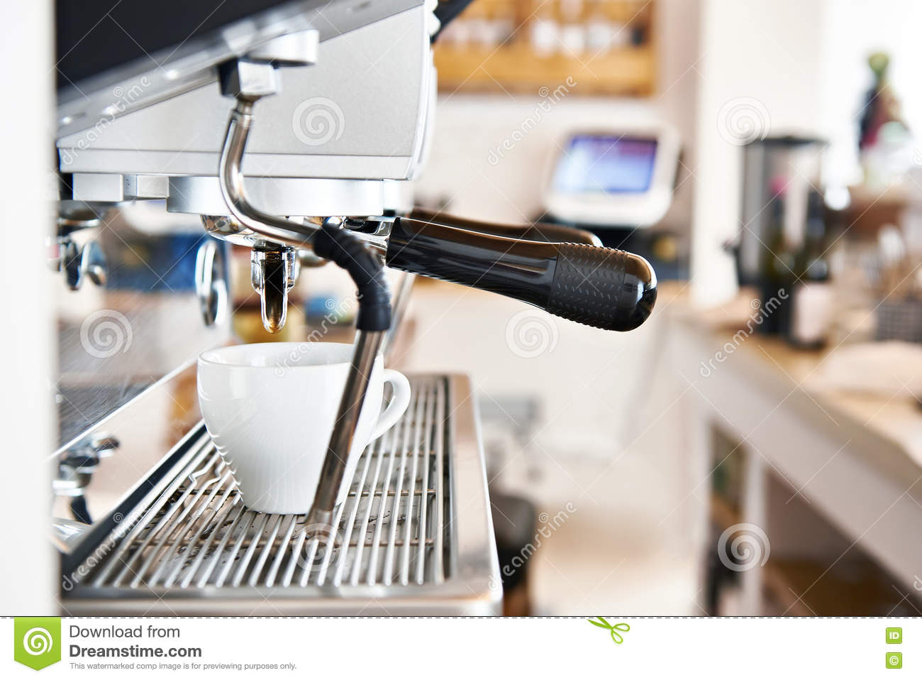 Machine A Cafe Coffee Machine In Cafe Bar Stock Image Image Of Fresh 71313711