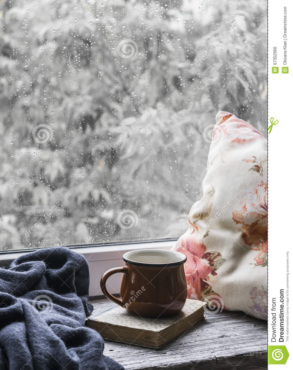 Coffee Art Livre In Rainy Day Stock Photo Cartoondealer 19853070
