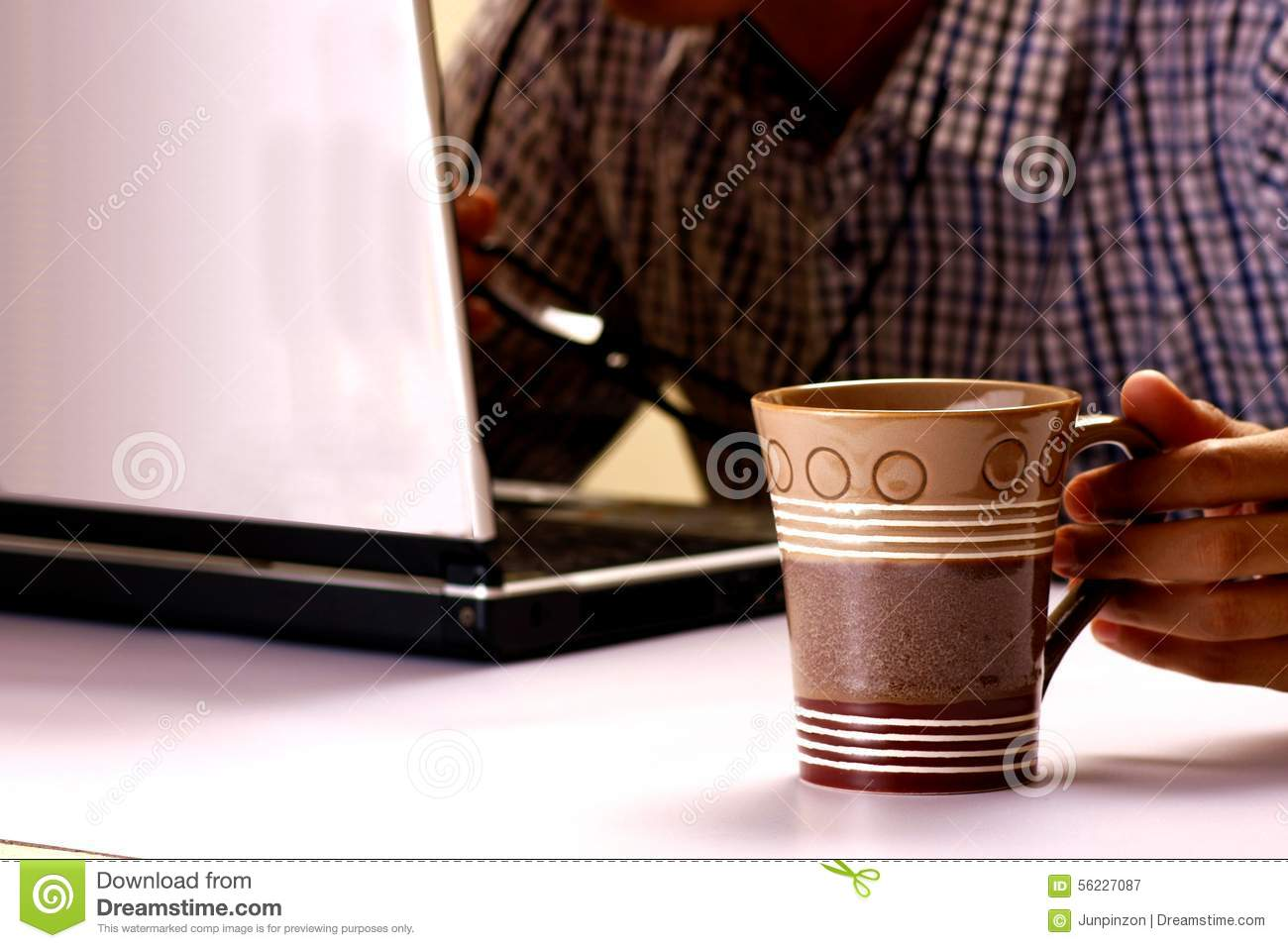 Men Coffee Cups Man And Coffee Mug Stock Photo Cartoondealer 1681680