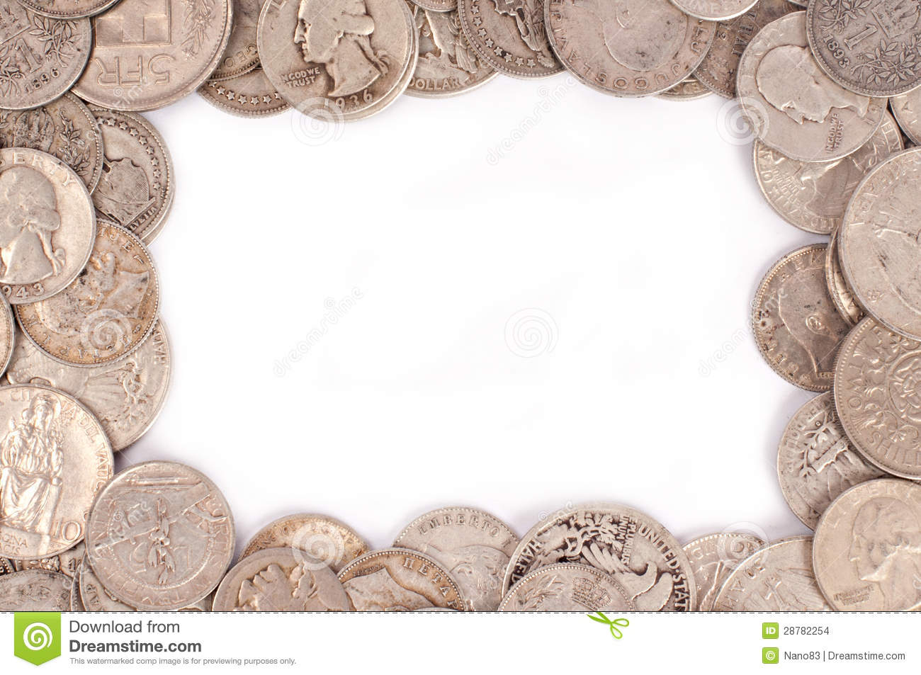 Silver Photo Frames Australia Coin Frame Stock Images Image 28782254