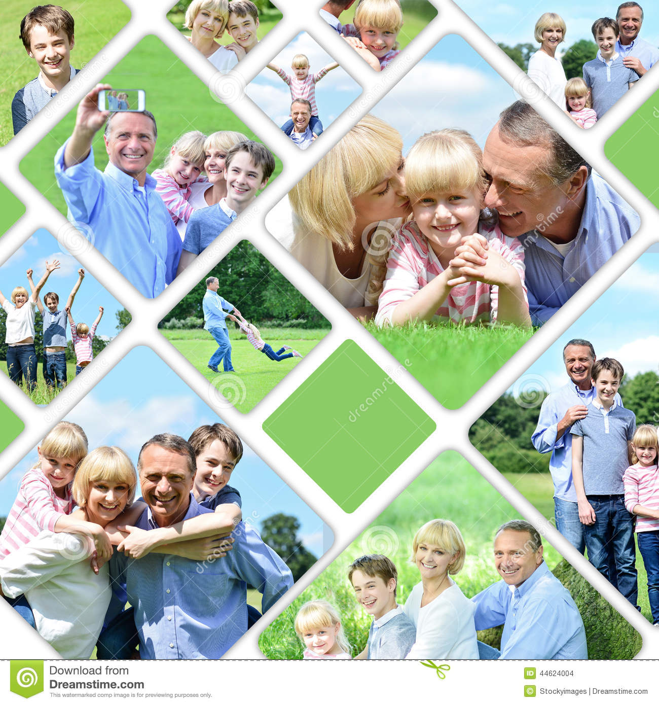 Collage Fotos Collage Of Happy Family Pictures Stock Photo Image Of