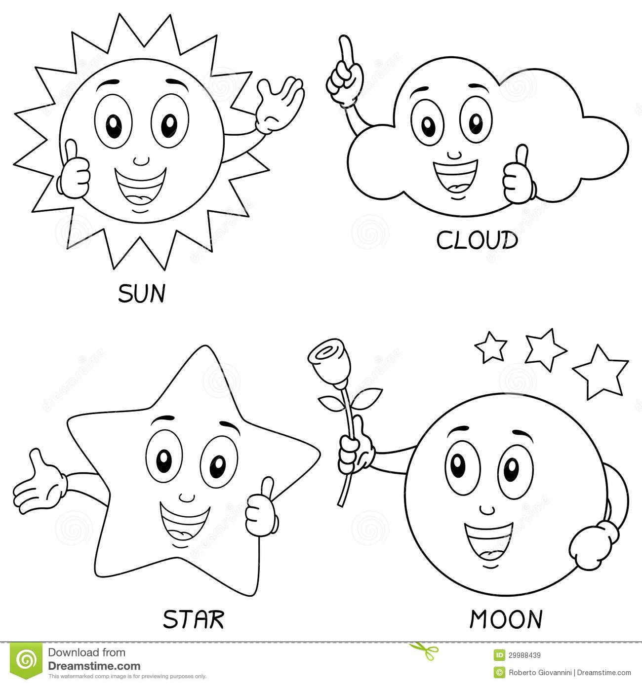 coloring pages sun moon and stars - Coloring Pages Stars Moons