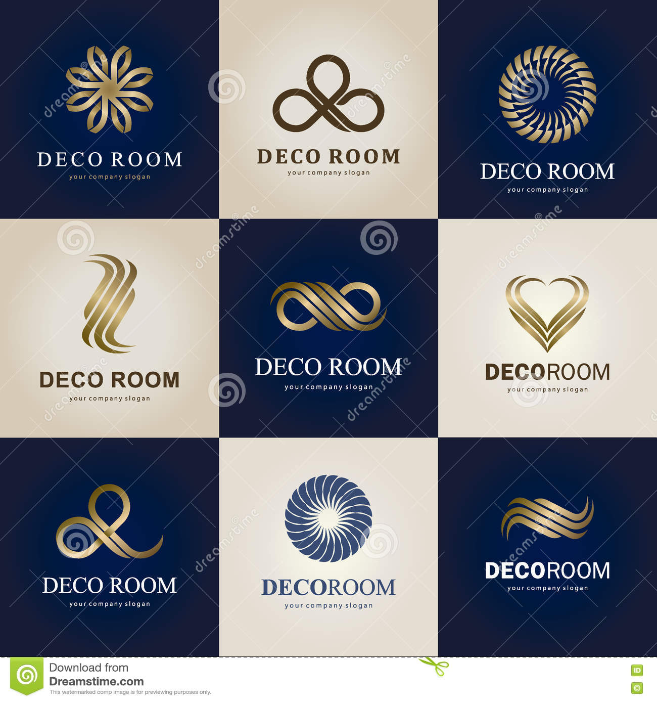 Home Decoration Collection A Collection Of Logos For Interior Decor Items And Home