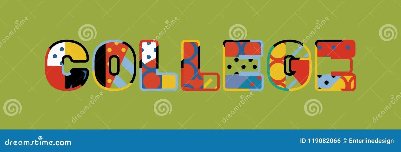 College Concept Word Art Illustration Stock Vector - Illustration of