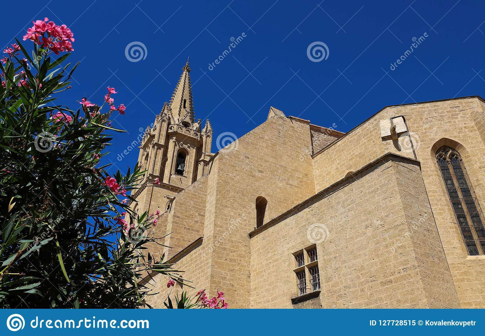The Collegial Church Saint Laurent Is An Excellent Example Of France S Meridional Gothic Style Salon De Provence France Stock Image Image Of City France 127728515