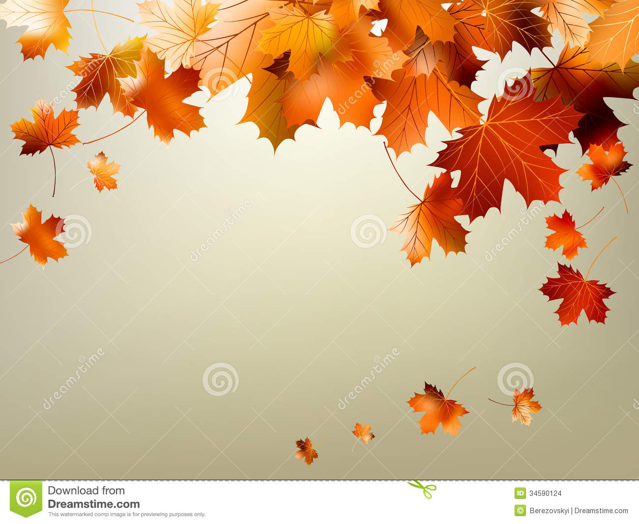 Free Fall Pumpkin Wallpaper Colorful Autumn Leaves Falling Eps 10 Stock Images