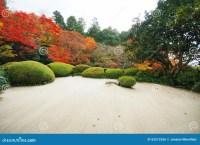 Colorful Backyard Garden Of Buddhist Temple Stock Photo ...