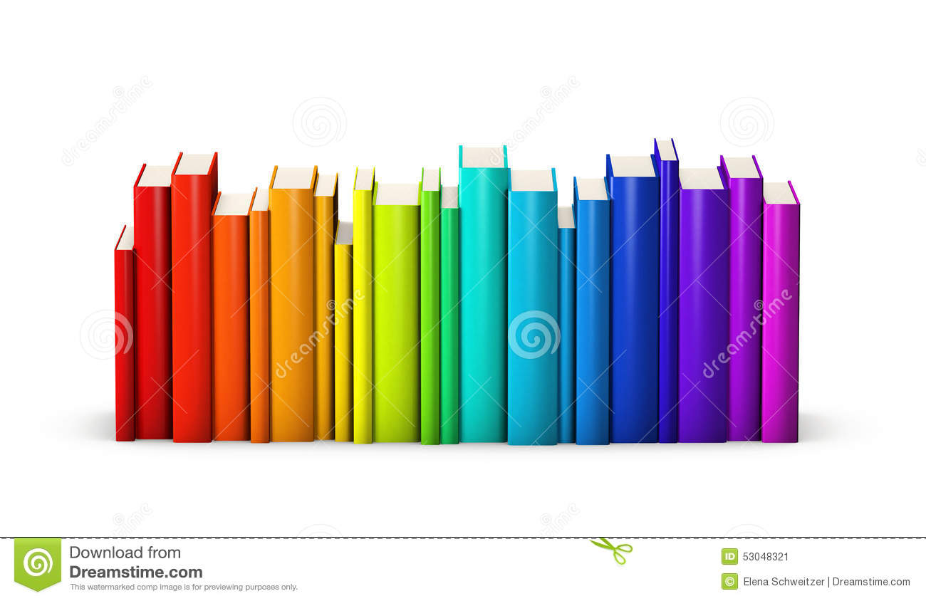Row Of Books Vector Colorful Books Stock Illustration Image 53048321