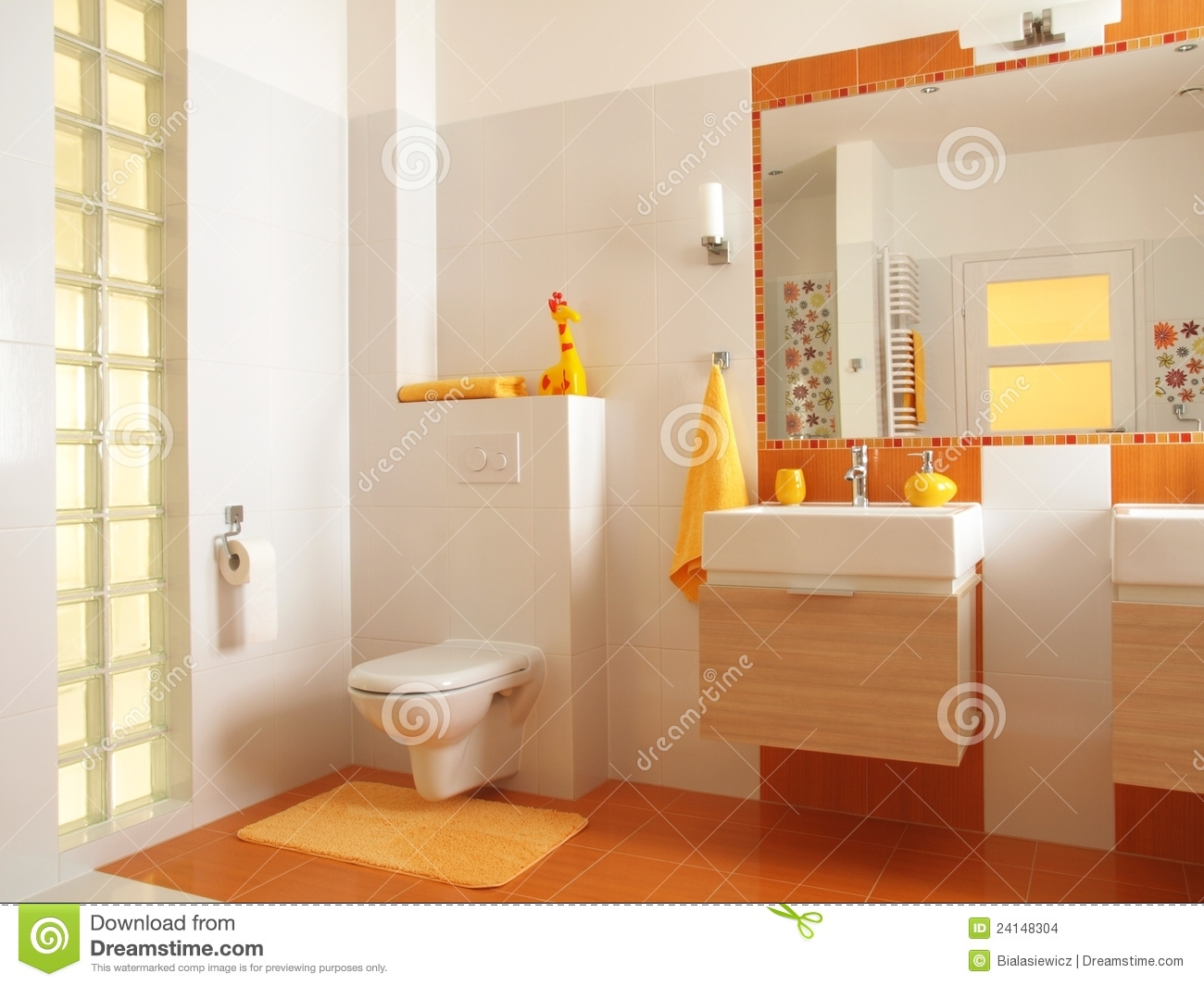 Salle De Bain Toilette Colorful Children Bathroom With Toilet Stock Images