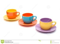 Colorful Coffee Cups Stock Photo - Image: 2215160