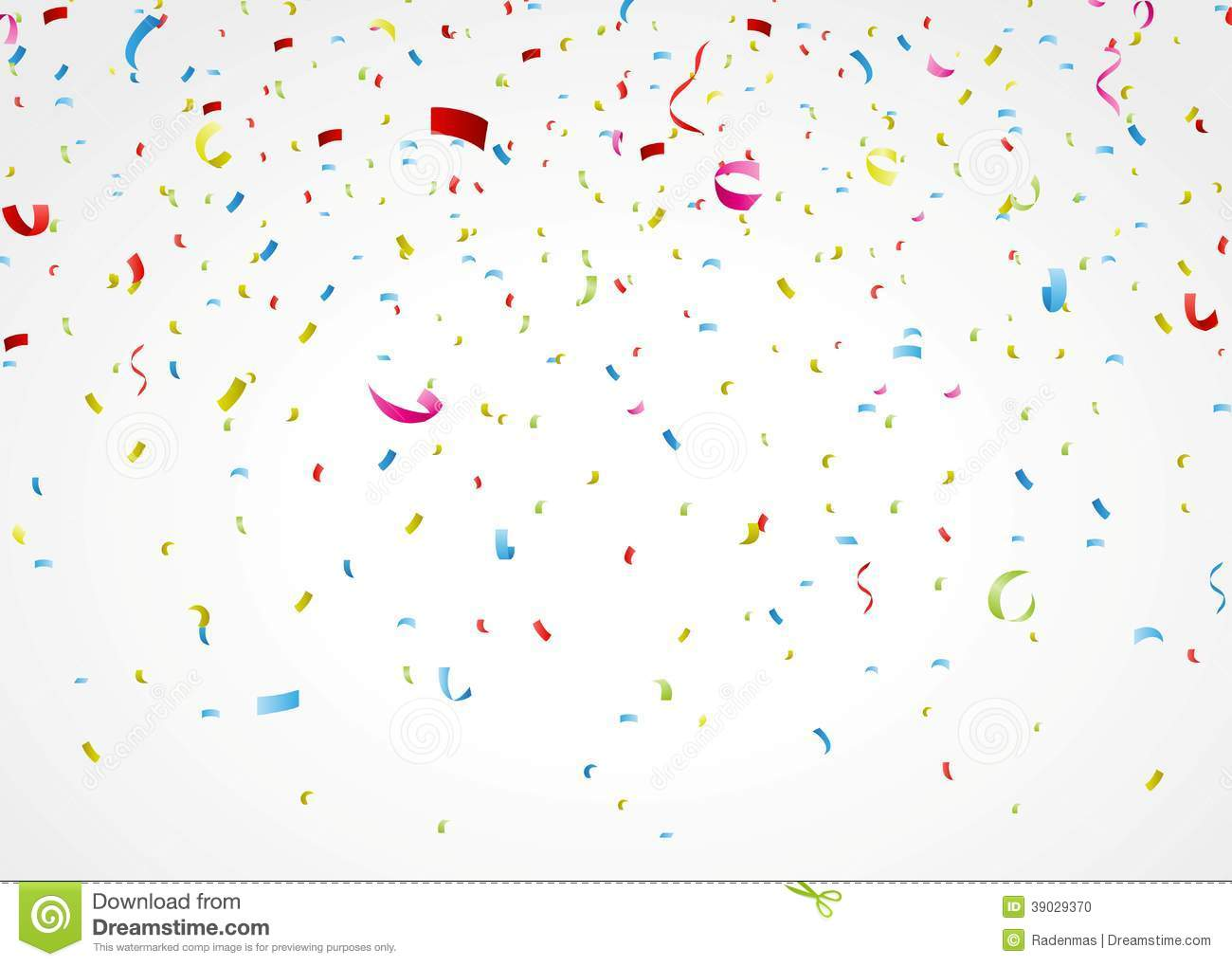Cute Girly Girl Wallpapers Colorful Confetti On White Background Stock Vector Image