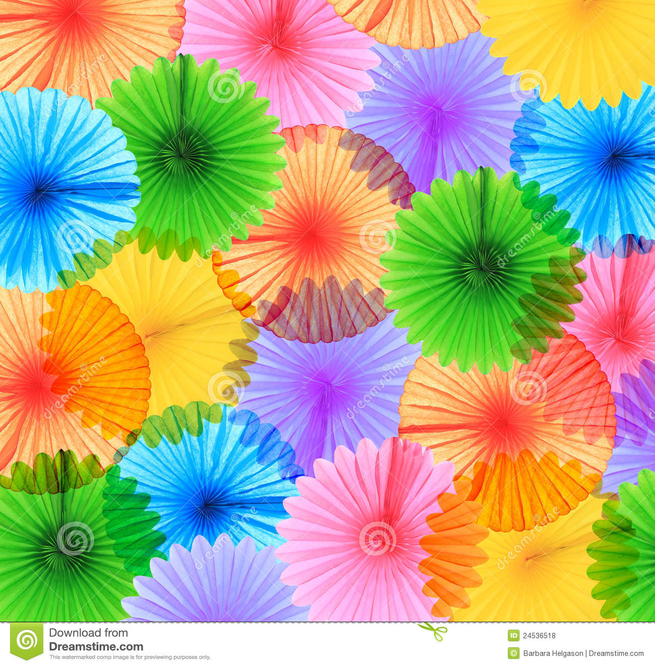 Buntes Papier Colorful Paper Fans Royalty Free Stock Photos Image