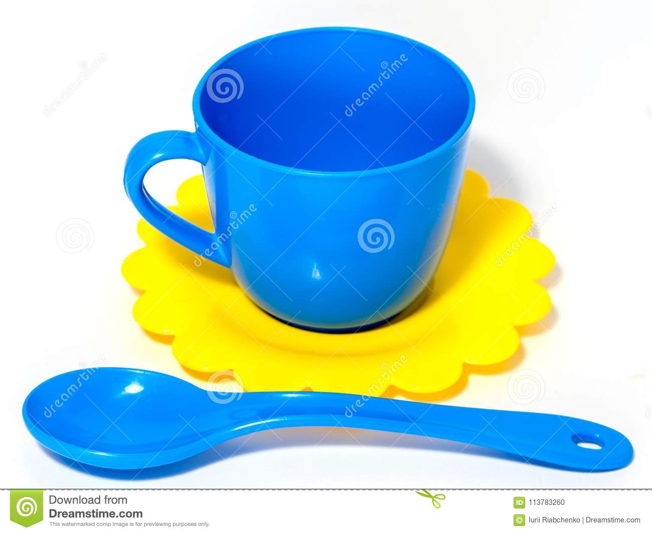 Tea Set Toy Colorful Tea Cup Toy Stock Photo Image Of Play Cute 113783260