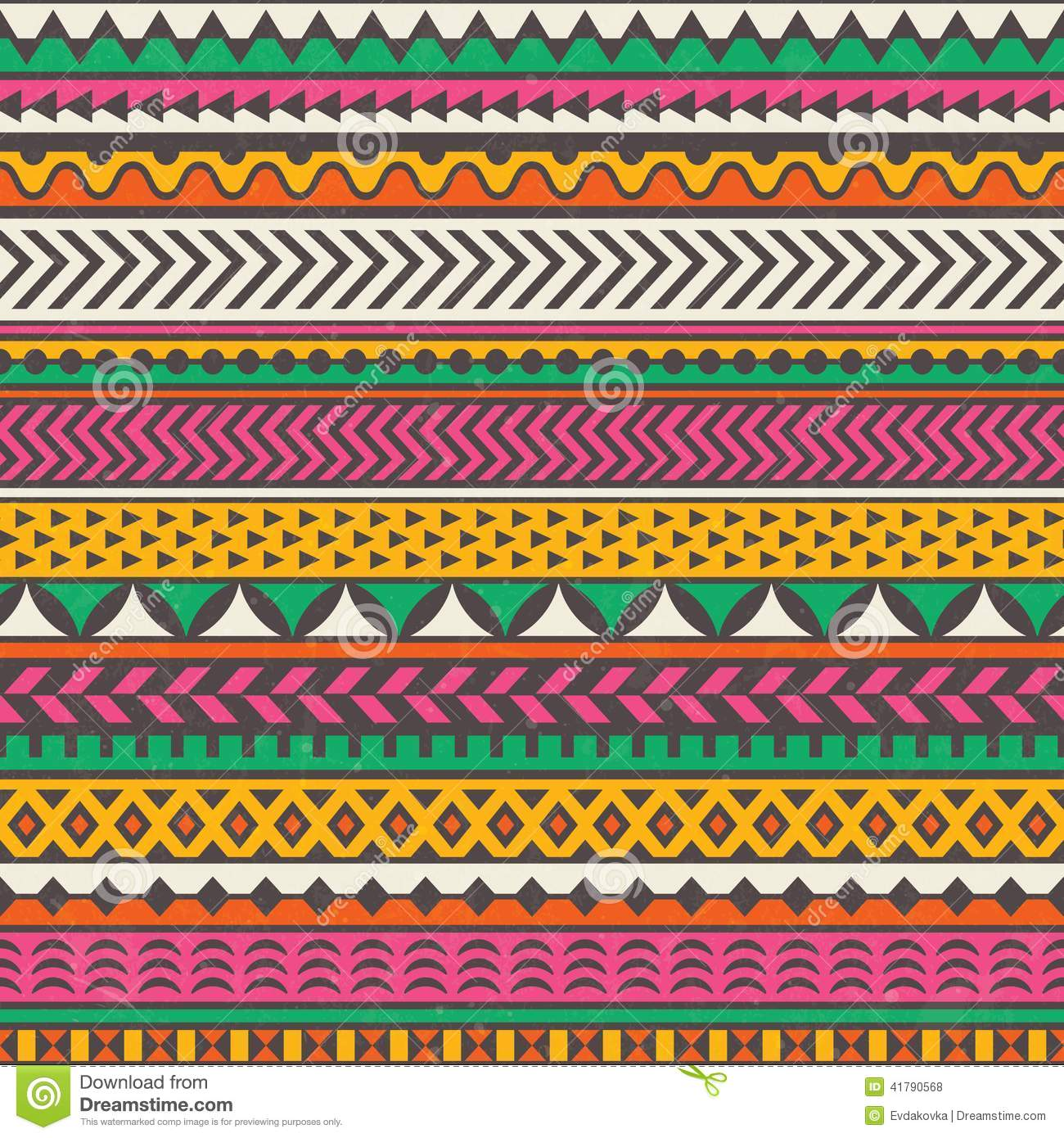 African Animal Wallpaper Border Colorful Tribal Print Vector Seamless Background Stock
