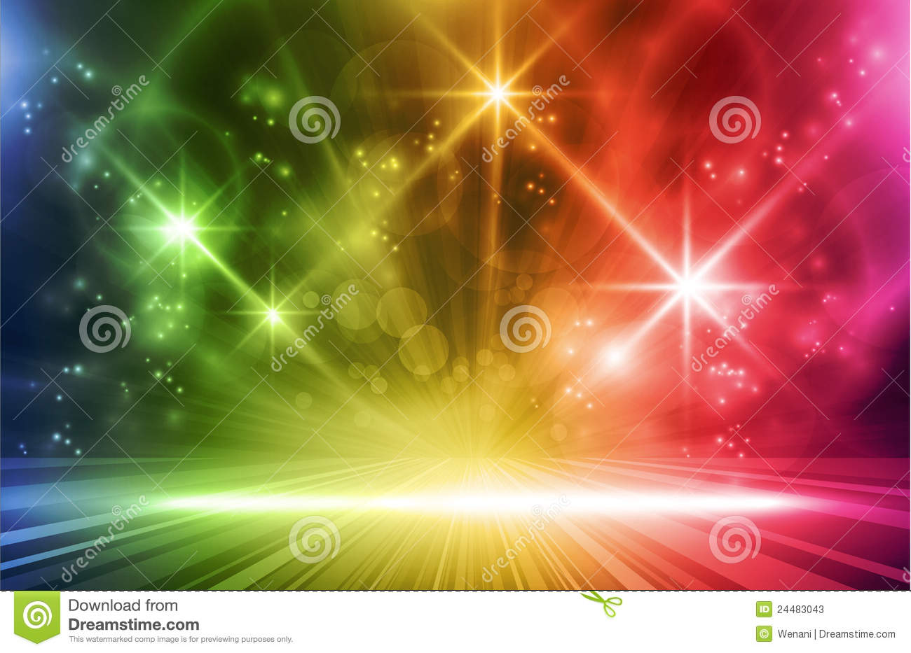 Blur 3d Wallpaper Colorful Vector Light Effects Stock Vector Illustration