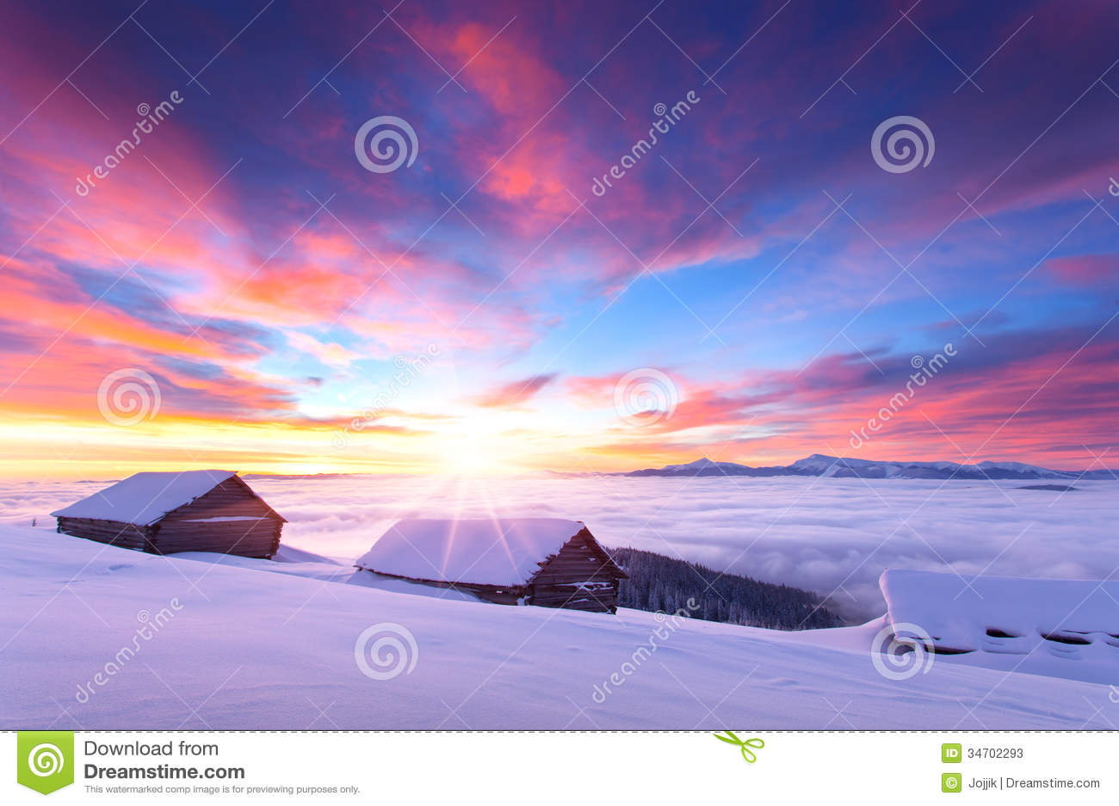 Niagara Falls Wallpaper Free Download Colorful Winter Sunrise In The Carpathian Mountains Stock