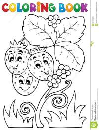 Coloring Book Fruit Theme 4 Royalty Free Stock Photo ...