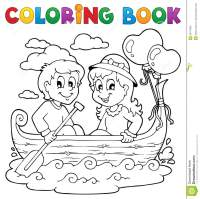 Coloring Book Love Theme Image 1 Royalty Free Stock Images ...