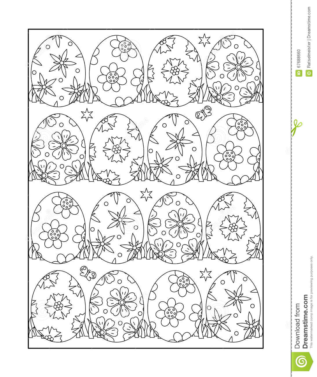 Monochrome Kleuren Coloring Page For Adults And Children, Or Black And White