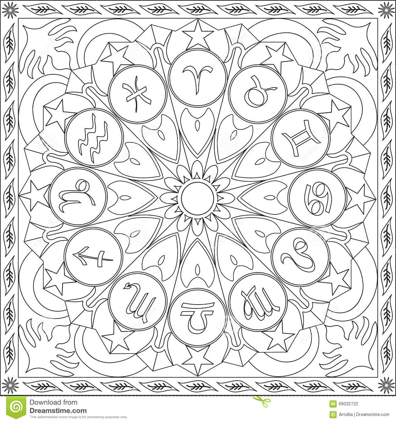 Astrology Coloring Pages Miakenasnet