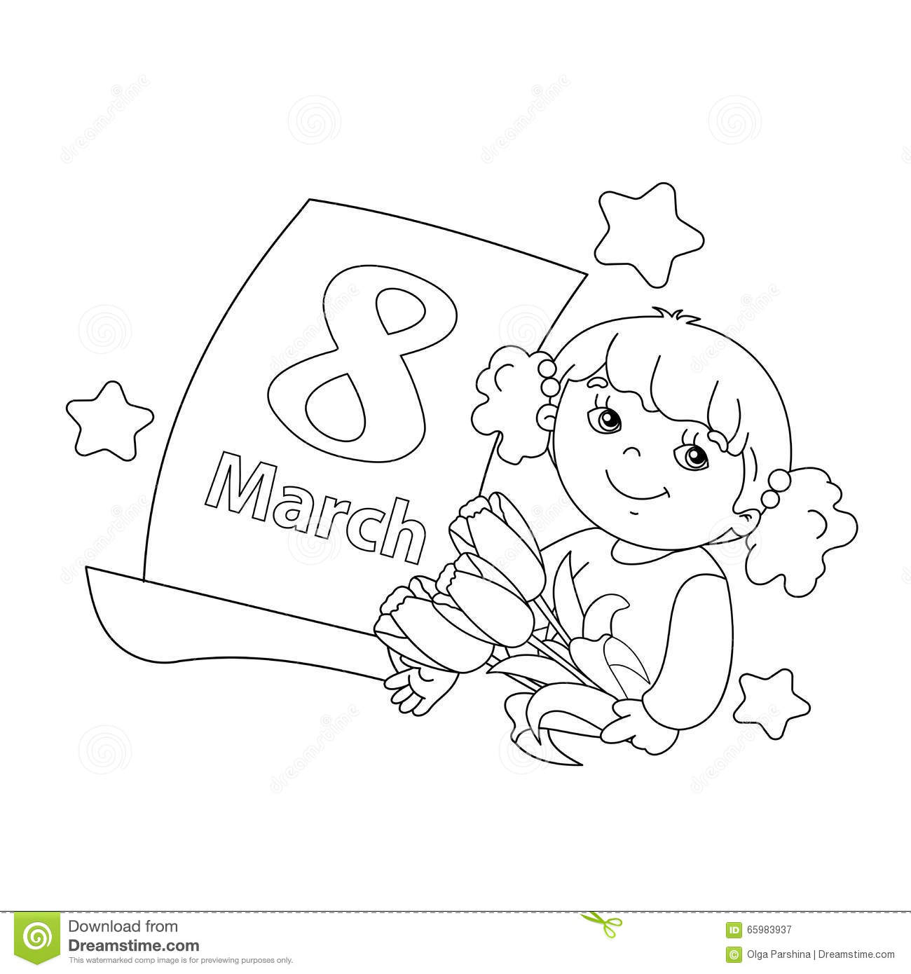 8 march coloring pages -  8 March Coloring Page A Download