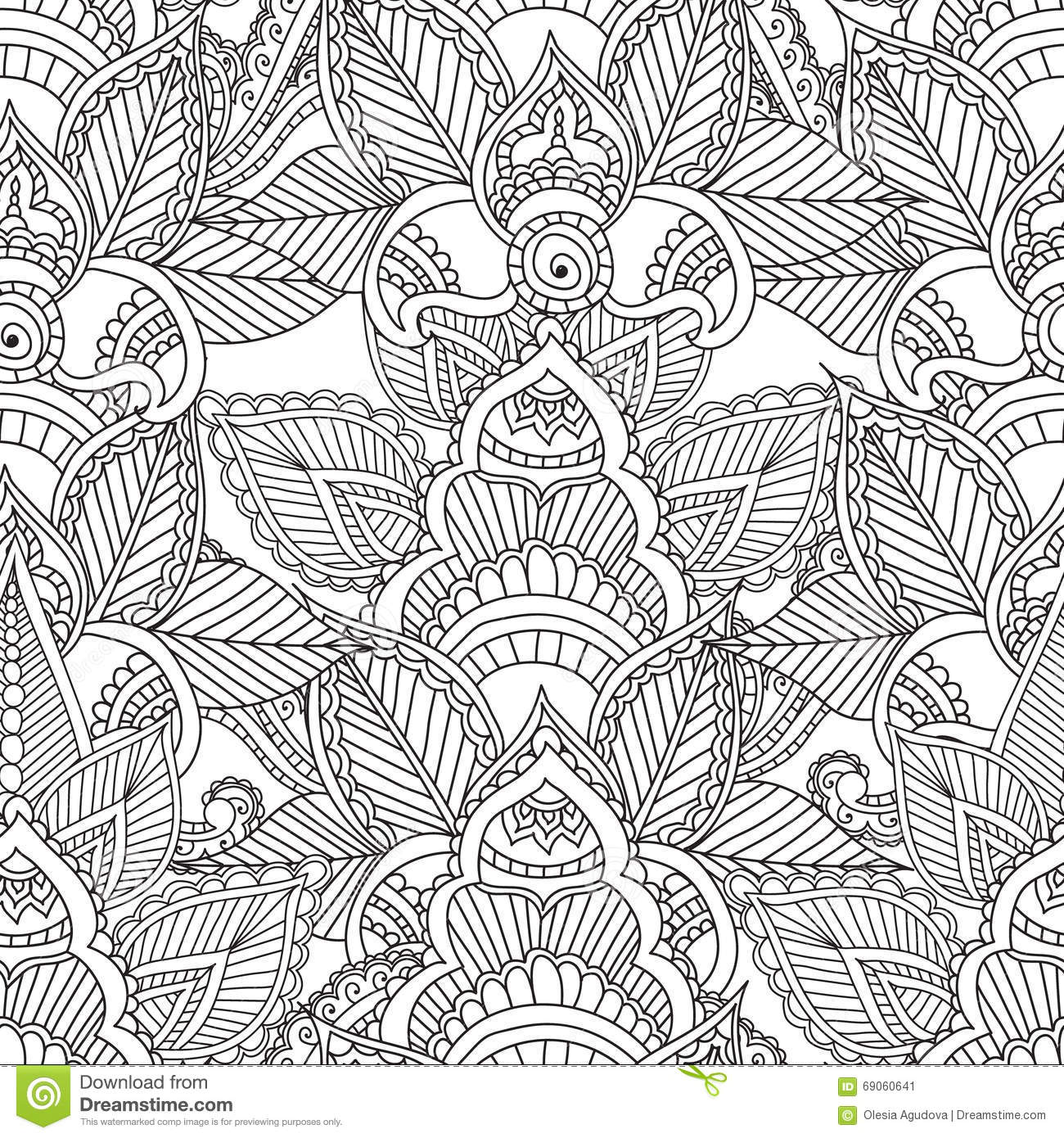 Zen Garden Fall Live Wallpaper Full Version Coloring Pages For Adults Seamles Henna Mehndi Doodles