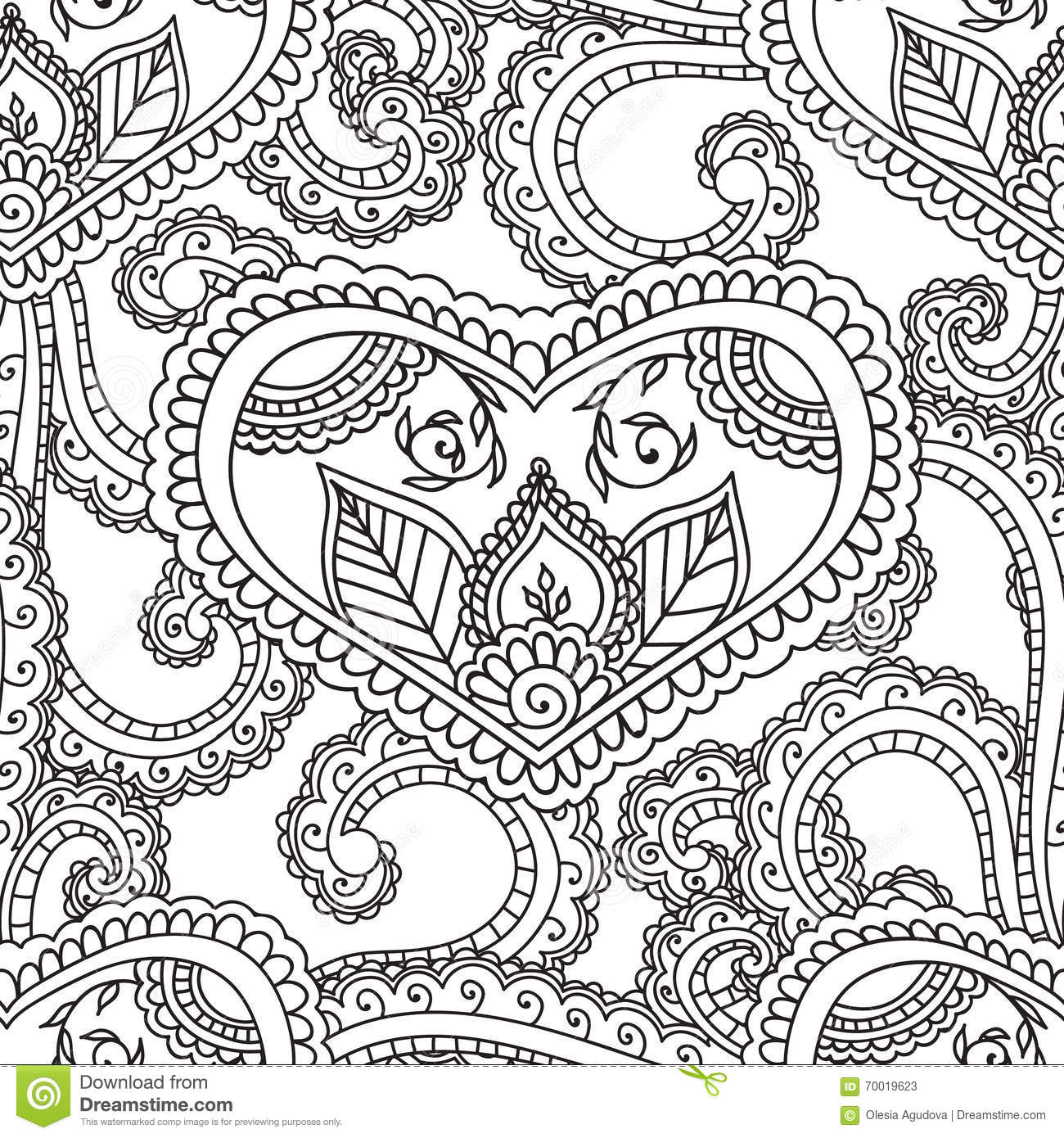 Coloring pages henna - Download