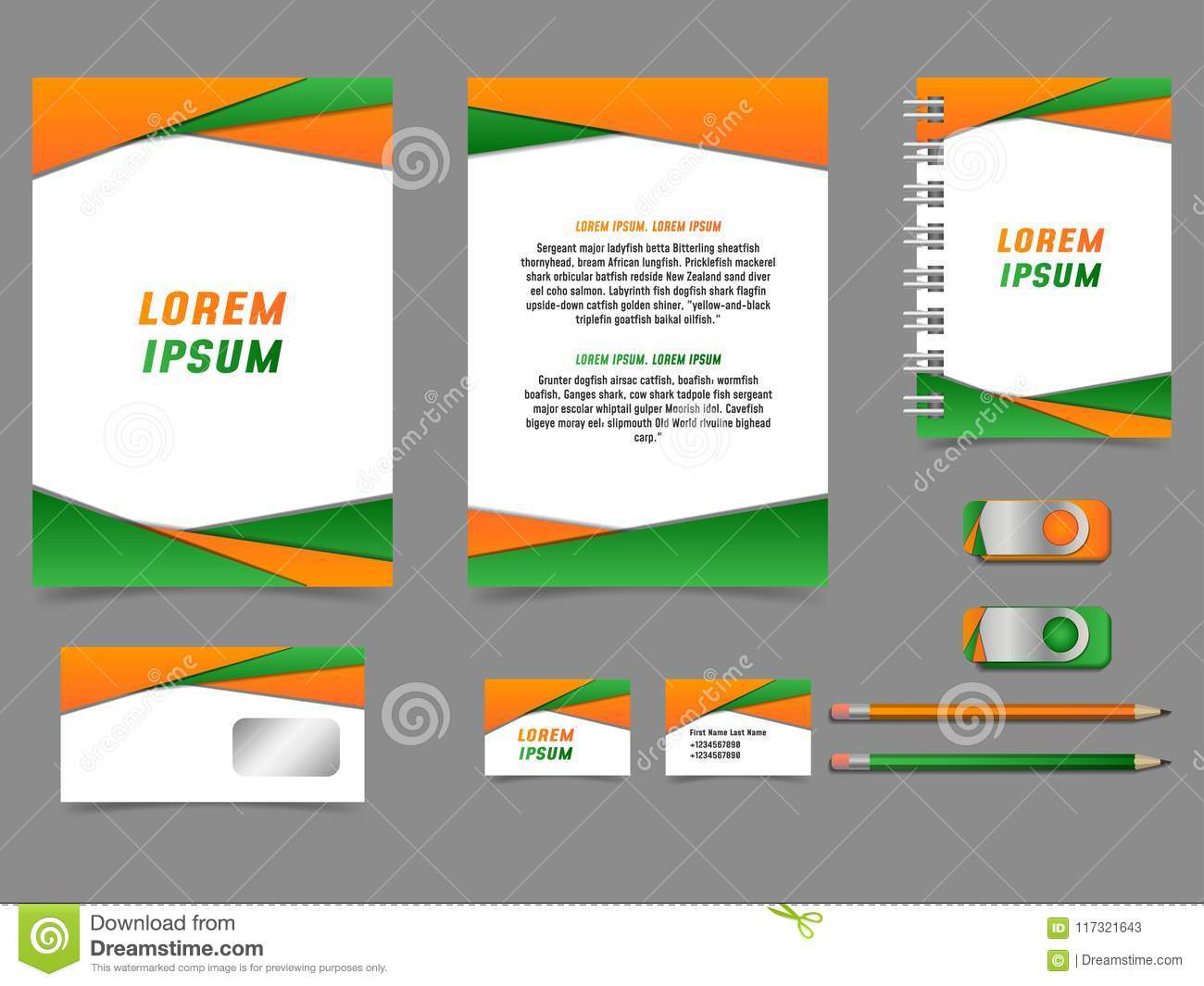 Corporate Graphic Design Colourful Vector Business Style Template Corporate Identity