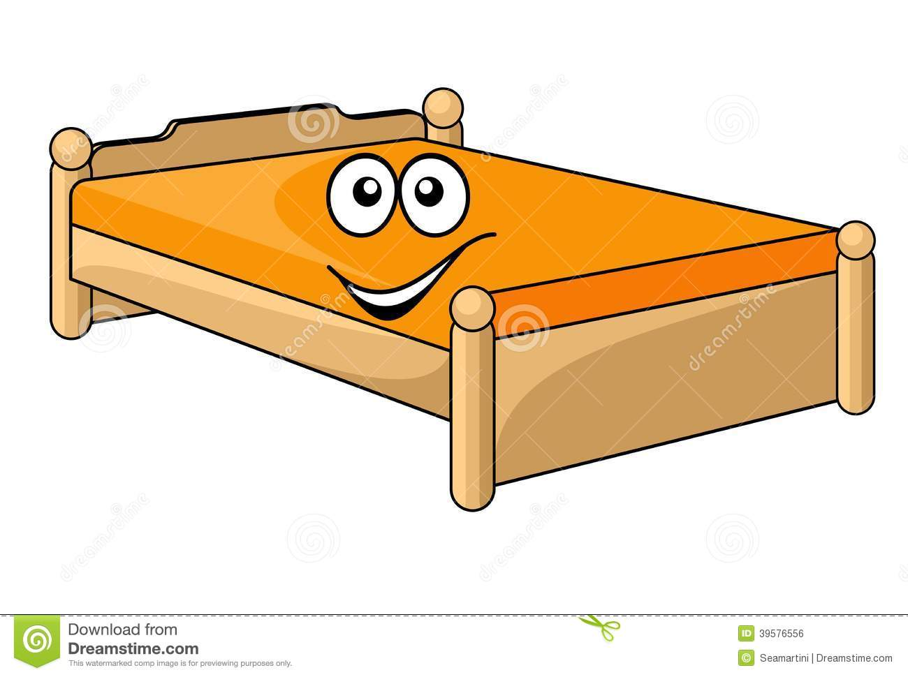 Bettdecken Clip Comfortable Cartoon Bed Stock Vector Illustration Of Icon