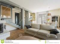 Comfortable couch in room stock image. Image of empty ...